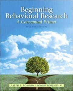SELL TEXTBOOK- Beginning Behavioral Research: 7th Edition