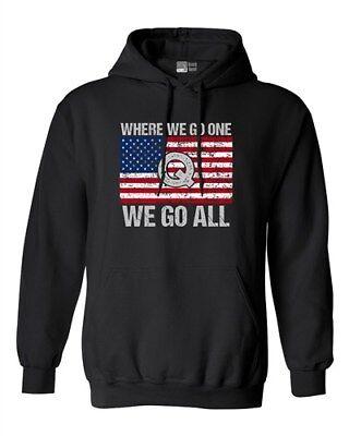 Where We Go One We Go All Qanon The Storm American Flag Dt Sweatshirt Hoodie