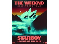 The Weeknd MANCHESTER SEATED 5.3.17 - 4 Tickets
