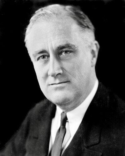 Franklin Delano Roosevelt #2 Photo 8X10 -  B&W