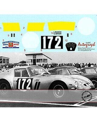 1/12 FERRARI 250 GTO DECAL TOUR DE FRANCE 1964 No. 172 #4153 GT for REVELL Bianc