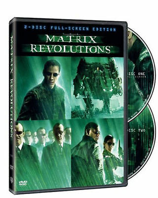 NEW The Matrix PART 3  Revolutions DVD MOVIE 2003 R Two Disc Full Screen - Halloween Movies Full Version