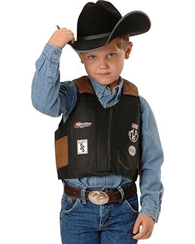 Chaps Kid's Rodeo Vest Mutton Bustin/buster Black - Bullr...