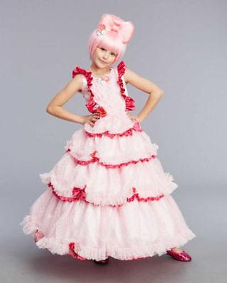 NWT CHASING FIREFLIES 10 HARAJUKU KAWAII CHERRY BLOSSOM PRINCESS COSTUME & WIG (Harajuku Girls Costumes)