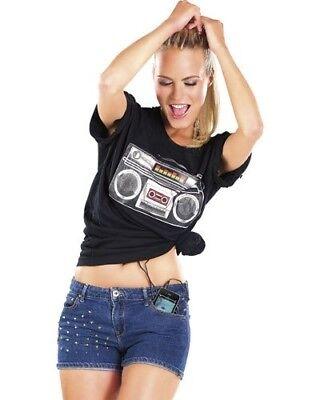 Image T-shirt avec égaliseur et haut-parleur ''Boom Box Sound'' - Infactory