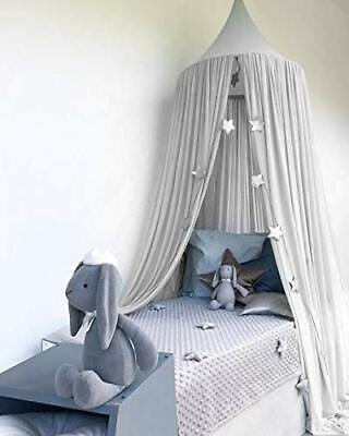 Dyna-Living Bed Canopy for Kids Canopy Bed Curtains for Cribs Girls Grey Cano...