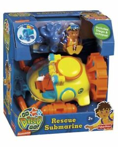 DIEGO RESCUE SUBMARINE SOUS-MARIN AVEC 2 FIGURINES FIGURES