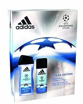 Adidas Campeones Liga Arena Edición – Cuerpo Spray 150ml+250ml Y Cabello Gel