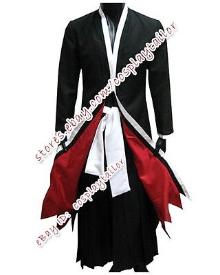 Bleach Ichigo Halloween Costume (Bleach Cosplay Ichigo Kurosaki Party Male Uniform Costume Halloween Black)