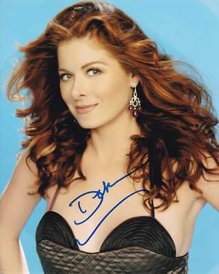 Debra Messing In Person Authentic Autographed Photo Coa Will   Grace Sha  96394