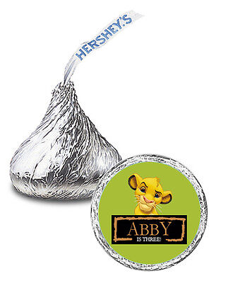108 The Lion King Movie Party Favor Personalized Kisses Labels](Movie Party)