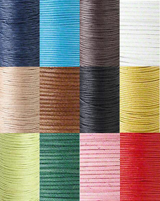 BOGO!! 60Ft Waxed Cotton Cord Jewelry Beading Craft Cording 0.5mm 0.7mm 1mm 2mm (Beading Jewelry)