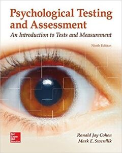 Psychological Testing and Assessment (9th ed) – Cohen & Swerdlik