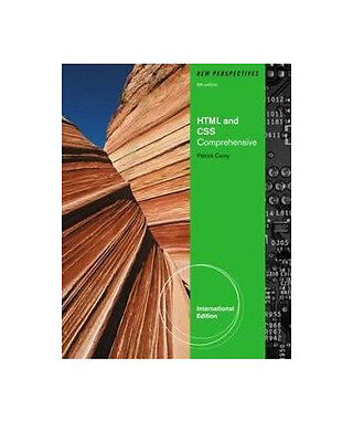 Free Ship - New Perspectives on HTML and CSS : Comprehensive by Carey (6 Ed) on Rummage