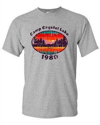Camp Crystal Lake 1980 Halloween Costume Fan Wear DT Adult T-Shirt Tee - 1980 Halloween Costume