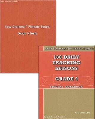 Grammar Series (Easy Grammar Ultimate Series: 180 Daily Lessons Grade 9 SET - Workbook &)