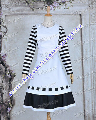Alice Madness Returns Alice London Girl Maid Dress Cosplay Costume Halloween