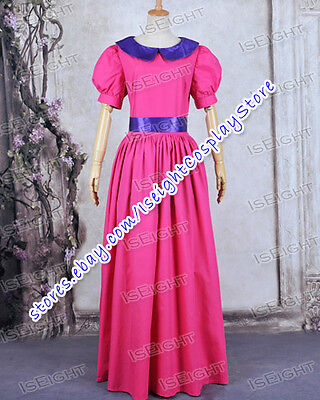 Adventure Time Cosplay Costume Princess Bubblegum Rose Red Long Waist Dress  - Princess Bubblegum Adventure Time Costume
