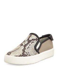 VINCE Leather Snake Skin Sneakers