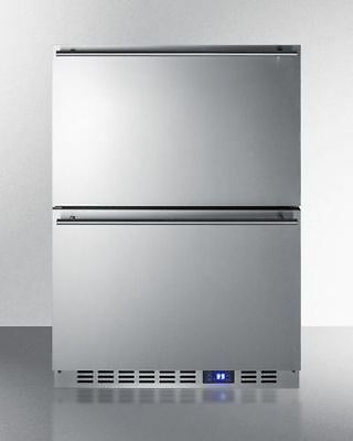 Summit Stainless Steel Two Drawer Refrigerator  Freestanding Built In
