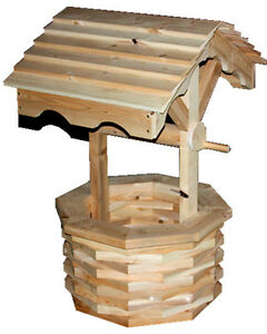 Mennonite made cedar wishing well 30% OFF