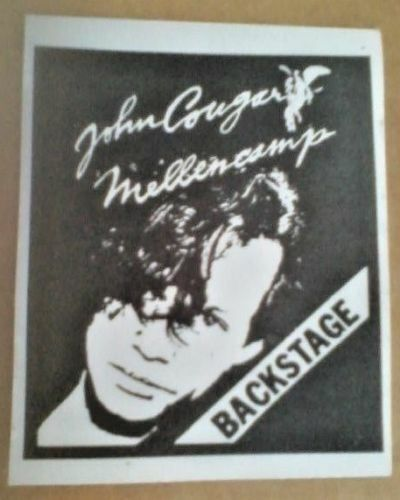 John Mellencamp John Cougar Mellencamp concert pass backstage  HTF