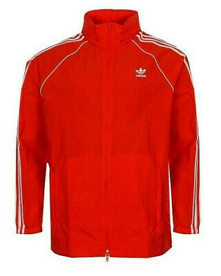 Adidas MEN ORIGINALS SUPERSTAR WINDBREAKER TRACK JACKET RED/WHITE CW1310