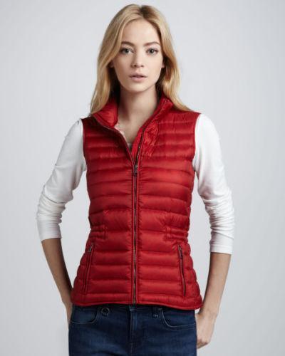 Red Puffer Vest Ebay