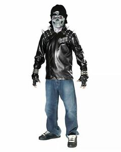 SKULL Rider - Scary Biker Costume - Child Size Med or Large $10