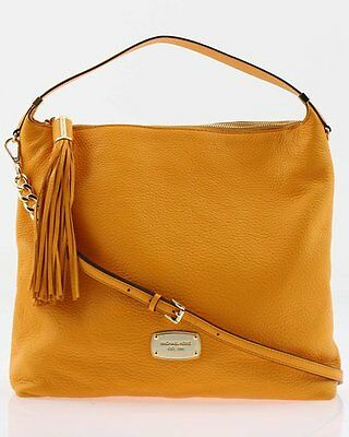 MICHAEL KORS LARGE BEDFORD VINTAGE YELLOW LEATHER  TZ TOTE,SHOULDER,HAND BAG