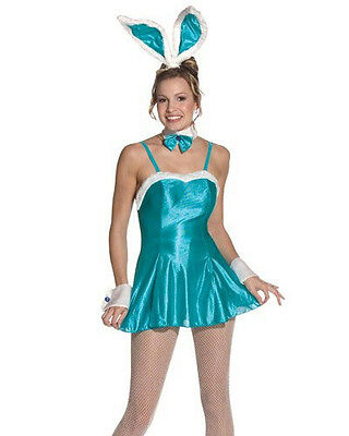 Women's Sexy Turquoise Blue Cocktail Hunny Bunny Adult Costume Fits Sizes 6-12](Cocktail Bunny Costume)