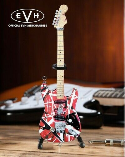 Eddie Van Halen - Eddie Van Halen Frankenstein Red & White Mini Guitar Replica C