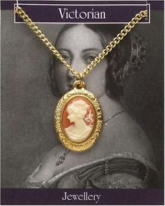 Victorian Cameo Pendant/Necklace 22ct Gold Fancy Dress Ladies Decorative Vintage