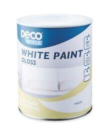 Wated aldi dec white gloss paint
