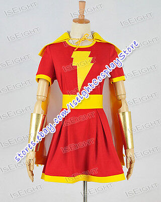 Captain Marvel Costume Mary Marvel Heroine Cosplay Party Shawl Dress Halloween - Marvel Heroines Costumes