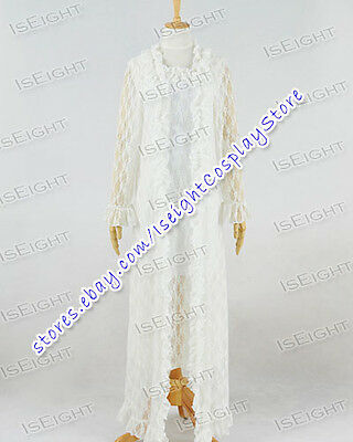 The Phantom Of Opera Christine Daae Fancy White Lace Dress Costume Halloween](Halloween Costume White Lace Dress)