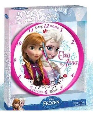 Kinderuhr Wanduhr Kinderzimmer**Disney Frozen die Eiskönigin**-25 cm NEU