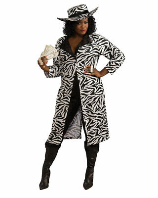 Madame of the Night Womens 1970's Costume Lady Pimp Womens Plus Size](Pimp Costume Women)