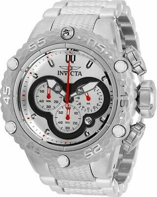 Invicta Men's 52mm Subaqua Noma VI Chronograph Silver Dial Silver Tone SS Watch