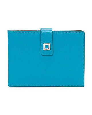 Lodis Audrey Flap (Lodis - NWT - Audrey Turquoise Blue Leather Ticket Flap/Card Slots Passport Case )