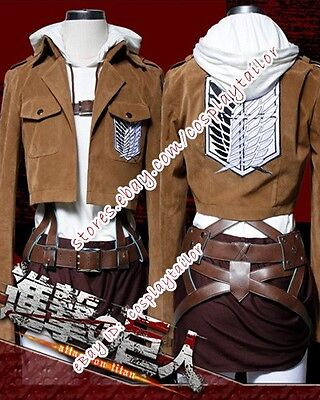 Attack On Titan Shingeki No Kyojin Annie Leonhart Suede Cosplay Costume Outfits - Attack On Titan Outfit