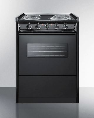 "24"" Wide Slide-in Coil-top Electric Range with Oven Window"
