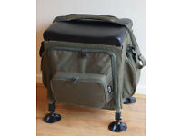 FISHING TACKLE BOX & SEAT IN ONE, BY NGT, WITH TROLLEY