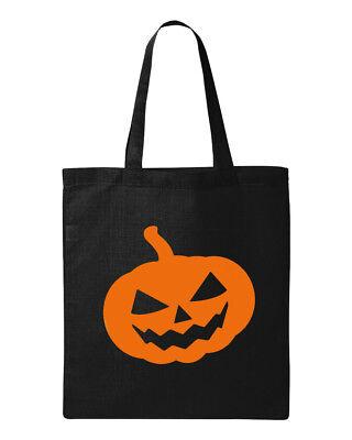 Pumpkin #2 Tote Bag Halloween Bag Candy Bag Scary Face Skeleton Shopping Bag ()