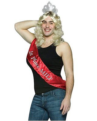 Adult Humorous Unisex Halloween Costume 1st Place MILF Crown Tiara Drag - Halloween Costume Places