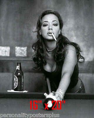 "Leah Remini ~Shooting Pool~Playing Pool~ Billiards~16"" x 20""~Poster~ Photo"