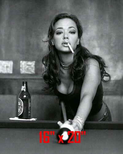 "Leah Remini ~Shooting Pool~Playing Pool~ Billiards~16"" x 20""~Poster~ Photo"