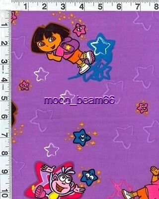 Monkey On Friends (Dora the explorer with Friends Monkey Stars on purple Quilt Cotton)