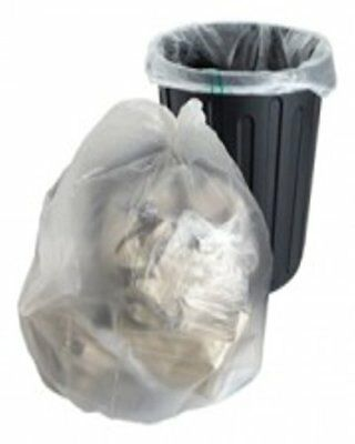 10 Large Strong Clear Plastic Polythene Bin Liners Bags Sacks Size 18 x 29 x 39