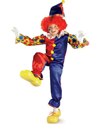 Kids Bubbles The Clown Costume Halloween Spooky Size Medium 8-10